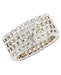cuff bracelet from images Anne klein silver tone crystal stretch cuff bracelet women macy 39 s tif