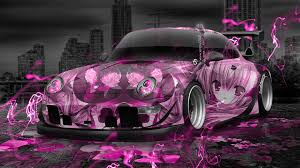 custom porsche wallpaper porsche 911 tuning anime aerography city car 2015 el tony