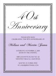 40th wedding anniversary party ideas 40th anniversary invitation wording