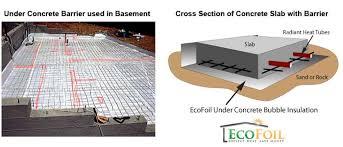 concrete insulation ecofoil concrete slab insulation