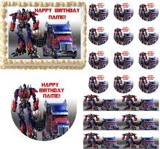 optimus prime cake topper transformers optimus prime edible cake topper image optimus prime