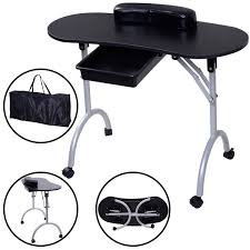 amazon com giantex portable manicure nail table station desk spa