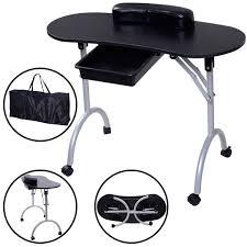 Nail Bar Table Station Amazon Com Giantex Portable Manicure Nail Table Station Desk Spa