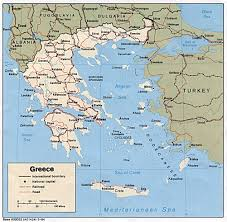 Map Of Santorini Greece by