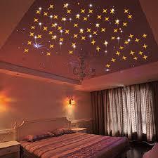 plafond chambre étoilé 50 pcs lot miroir étoile sticker stickers muraux salon chambre salle
