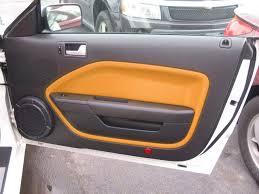 mustang door panel grabber orange door panel inserts the mustang source ford