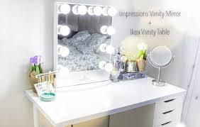 Vanity Youtube Table Adorable Impressions Vanity Mirror Ikea Table Youtube Ideas