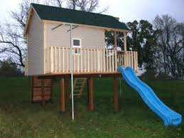 Backyard Playhouse Plans by 11 Best Outdoor Playhouse Images On Pinterest Outdoor Playhouses