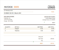 Billing Invoice Template Excel Billing Invoice Template 8 Free Sles Exles Format