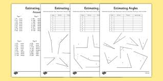 estimating angles worksheet free worksheets library download and