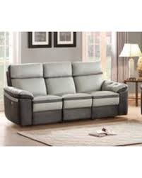 Two Tone Reclining Sofa Amazing Deal On Homelegance Otto Two Tone Power Reclining
