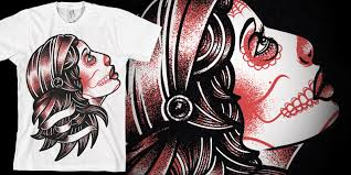 bring me the horizon los muertos gypsy t shirt design by scott