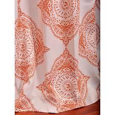 96 Inch Blackout Curtains Henna Orange 50 X 96 Inch Blackout Curtain Half Price Drapes