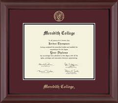 college diploma frames meredith college gold embossed diploma frame in cambridge item