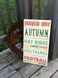 wooden autumn sign rustic fall sign wood autumn wall decor