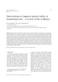 interventions to improve patient safety in transitional care a
