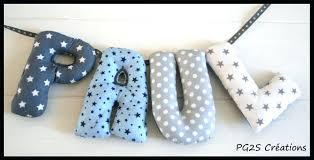 lettre chambre bébé lettre chambre bebe lettres tissus lettre prenom pour chambre bebe