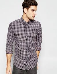refinement boss orange shirt with check slim fit mens navy hugo