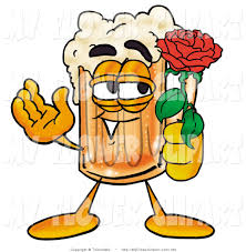 cartoon beer clip art of a foamy beer mug mascot cartoon character holding a