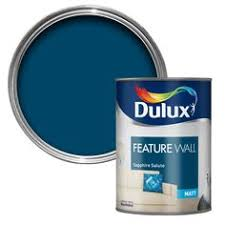 dulux feature wall matt emulsion paint tester pot sapphire salute