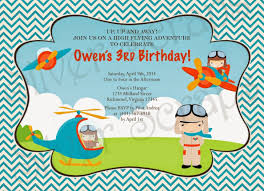 airplane birthday invitations best invitations card