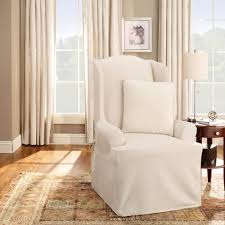 furniture delightful shine wingback recliner slipcover with