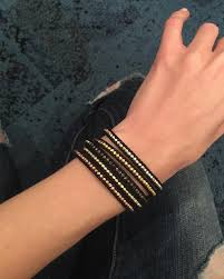 multi wrap bracelet images Chan luu multi nugget sectioned black leather wrap bracelet jpg