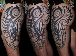 designing tribal tattoos on calf design pictures