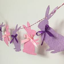 rabbit party supplies party garland rabbit bunny flags bunting banner wall decor