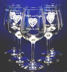 personalized glasses wedding unique custom personalized glass wedding favors personalized wine