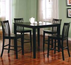 dining room table height round black dining room table and chairs counter height sets 8