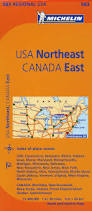 Usa Canada Map by Michelin Usa Northeast Canada East Map 583 Maps Regional