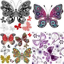 ornate butterflies vector free stock vector illustrations