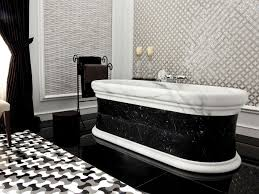 black and white bathroom designs the awesome gorgeous black and white bathroom tile ideas with regard