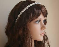 pearl headpiece bridal headband pearl headband wedding headband pearl
