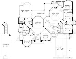 contemporary house plan with 5 bedrooms and 4 5 baths plan 4127