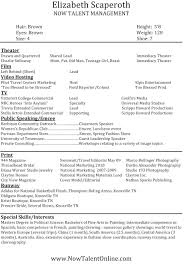 Free Acting Resume No Experience Model Resume Template Resume Cv Cover Letter
