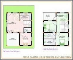West Facing House Vastu Floor Plans West Facing Indian House Plans House Plan