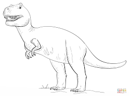 t rex vs dicynodont dinosaur coloring page free printable