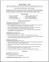 cna resume skills list examples certified nursing assistant by
