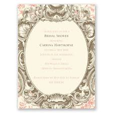 fancy invitations fancy frame bridal shower invitation invitations by