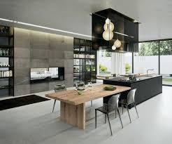 grand ilot de cuisine cuisine moderne avec grand ilot central id es de placecalledgrace com