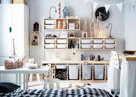 chambre ikea fille idée rangement chambre enfant avec meubles ikea