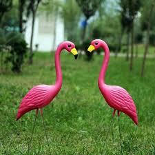 pink flamingo lawn ornaments activity hot sale large 31inch plastic pink flamingos yard garden