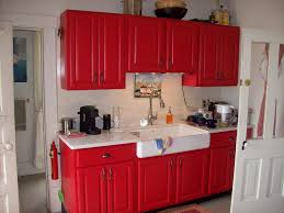 Red Kitchens With White Cabinets Excellent Red Kitchen Cabinets For Your Home Coziness Ruchi Designs