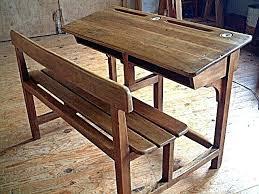 bureau d 馗olier ancien en bois 1 place bureau ancien en bois fauteuil de bureau ancien bois racglable en