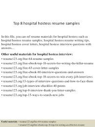 Resume For Hostess Top 8 Hospital Hostess Resume Samples 1 638 Jpg Cb U003d1437639002
