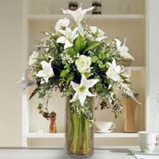 Artificial Lilies In Vase 3 Florist Artificial Flowers Singapore Grass Cactus Free Delivery