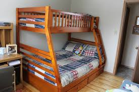 Brilliant Wood Bunk Bed With Desk Twin And Drawers In Design - Wooden bunk bed plans