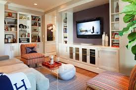 Built In Cabinet Family Room Contemporary With Tan Sofa Builtin - Family room built in cabinets